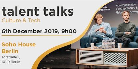 talent talks - Culture & Tech tickets