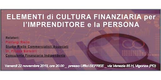 Elementi di Cultura Finanziaria per l' Imprenditore e la Persona