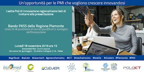 Bando PASS - Linea III - opportunità PMI biglietti