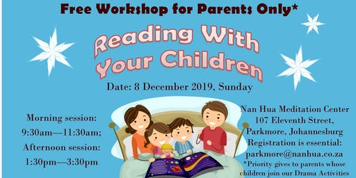 Three Goodness Reading Workshop for Parents
