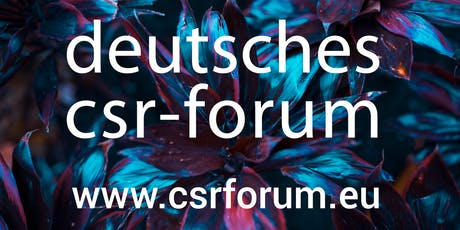16. Deutsches CSR-Forum 2020 Tickets