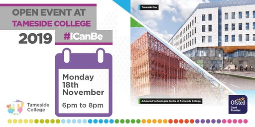 Tameside College Open Events
