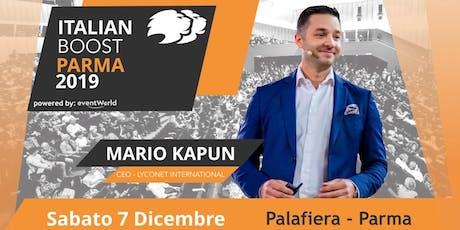 LYCONET ITALIAN BOOST - PARMA 2019  biglietti