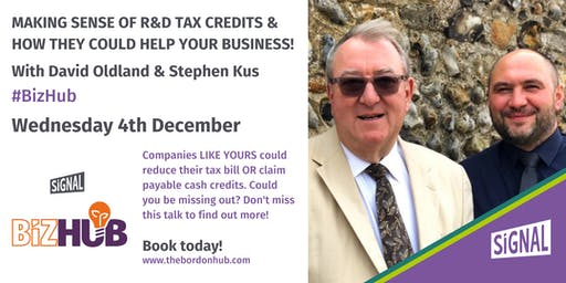 R&D Tax Credit Schemes – Could You Be Missing Out On Cash! With David Oldland & Stephen Kus