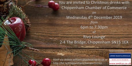 Chippenham Chamber of Commerce Christmas Drinks tickets