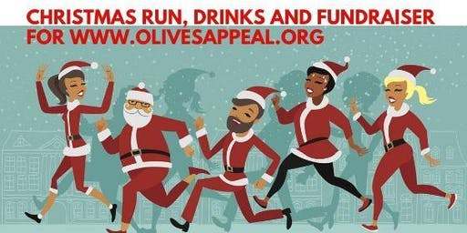 Caterham Ladies Joggers Tinsel Run and Christmas Drinks for Olives Appeal