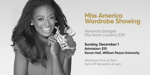 Miss America Wardrobe Showing for Miss NC 2019, Alexandra Badgett