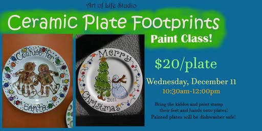 Paint Class: Ceramic Plate Footprints
