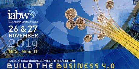 Italia Africa Business Week Area Expo biglietti