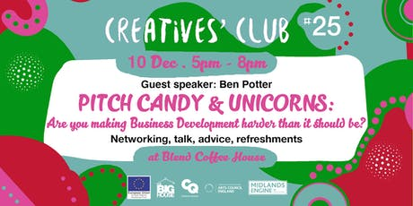Creatives' Club #025: Pitch candy & unicorns tickets