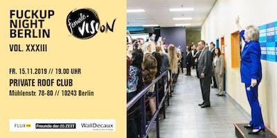 Fuckup Night Berlin Vol. 33  / female vision