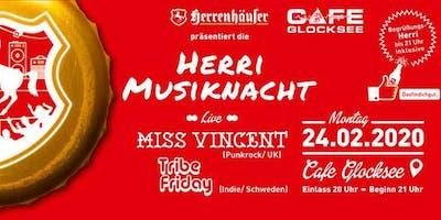 Herri Musiknacht mit Miss Vincent & Tribe Friday - Hannover