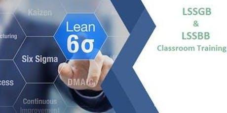 Combo Lean Six Sigma Green Belt & Black Belt Certification Training in Gaspé, PE tickets