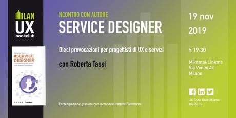 Service designer - con Roberta Tassi biglietti