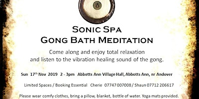 Sonic Spa Gong Bath Meditation - 15th November 2020