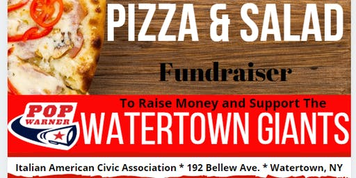 Pizza & Salad Dinner to Support the Watertown Giants
