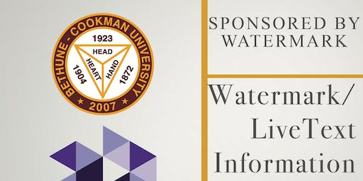 Watermark/LiveText Information Session (Lunch will be Provided)
