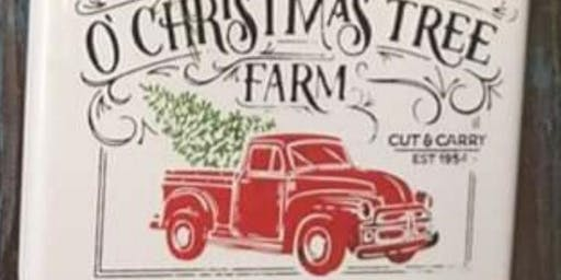 November Sip & Chalk - Holiday Vintage Truck