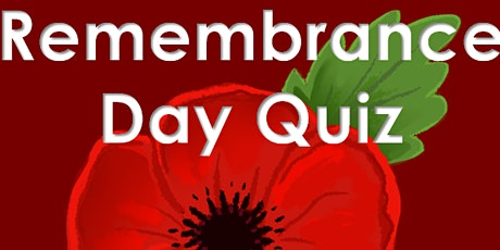 Remembrance Sunday Quiz to raise funds for The Royal British Legion tickets