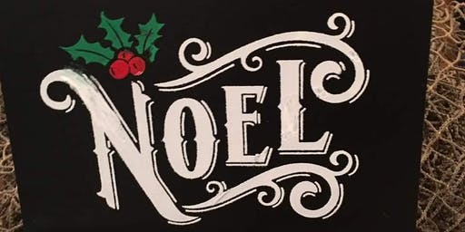 December Chalker's Anonymous - Noel Board and Base