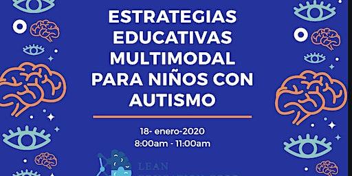 Estrategias  Educativas Multimodal para niños con Autismo