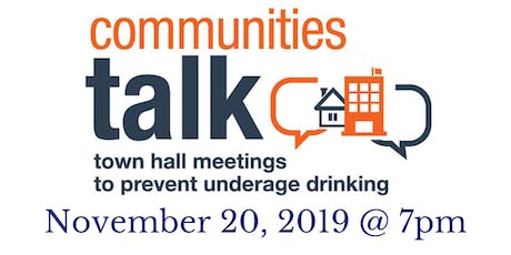 Greenwood Community Town Hall on Underage Drinking tickets