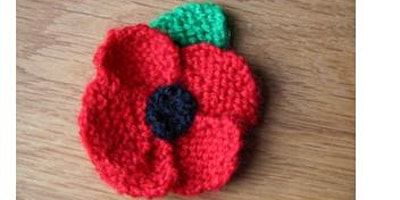 Knitted Poppies to raise funds for The Royal British Legion