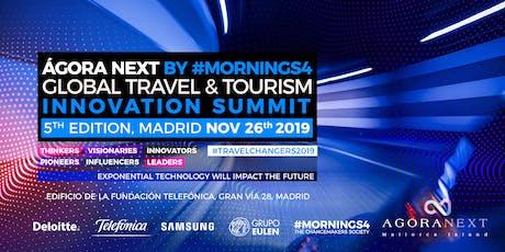 26 Nov Madrid SUMMIT AGORA NEXT & TELEFONICA EMPRESAS. 5th GLOBAL TRAVEL & TOURISM INNOVATION SUMMIT entradas