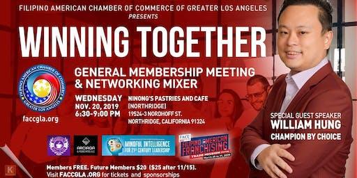 Winning Together: General Membership Meeting & Networking Mixer
