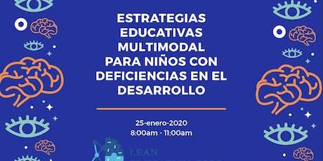 Estrategias Educativas Multimodal para niños con deficiencias en el Desarro entradas