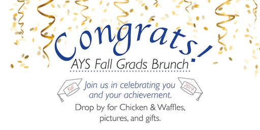 AYS Fall Graduates Brunch Celebration - Faculty RSVP