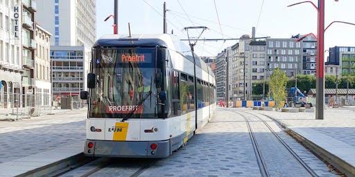 Inhuldiging nieuwe tramlijn en premetro Opera