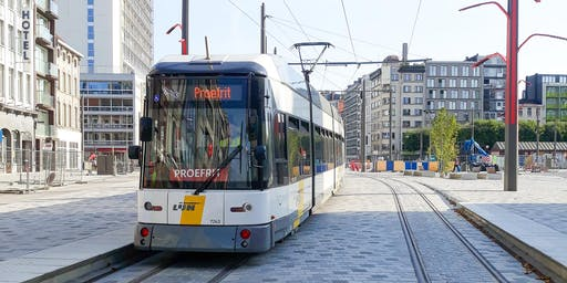 Openingsfeest tramlijnen 1 en  24 éen premetro Opera