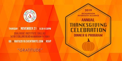 RIA  ANNUAL THANKSGIVING CELEBRATION