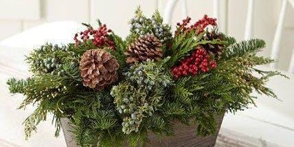 DIY Evergreen Centerpieces