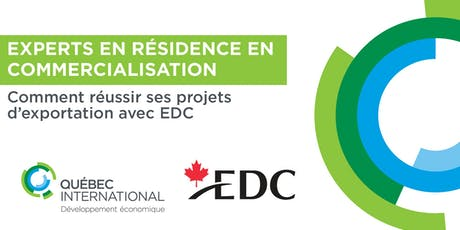 Experts en résidence en commercialisation – Comment réussir ses projets d'exportation avec EDC  billets