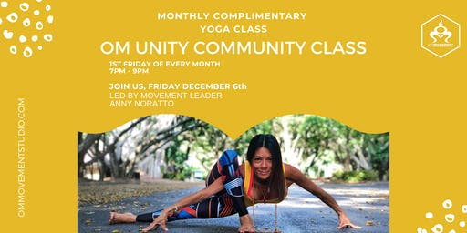 OM Unity Community Free Yoga Class with Anny Noratto