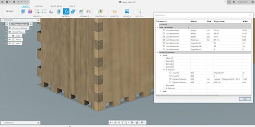 Fusion 360: Tab, Slot, and Finger Joints
