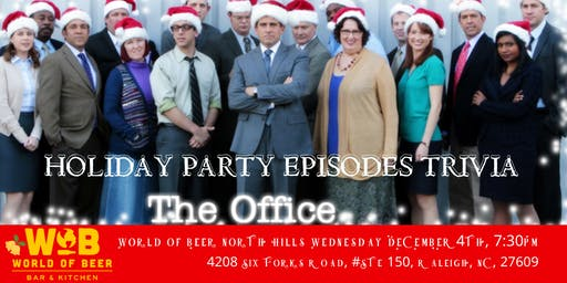 "The Office Trivia ""The Holiday Party Episodes"" at World of Beer North Hills"