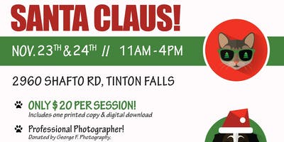 Santa Pictures — with your pets! (Kids Welcome Too)