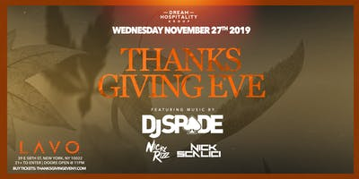 Thanksgiving Eve At Lavo Wednesday November 27th