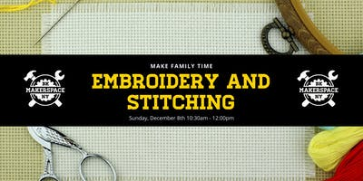 Make Family Time: Embroidery and Stitching