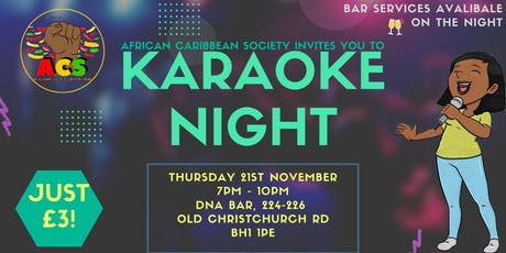 ACS Karaoke night tickets