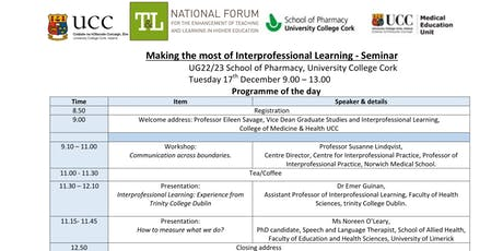 Making the Most of Interprofessional Learning UCC tickets