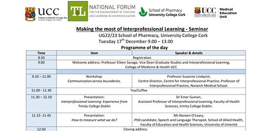 Making the Most of Interprofessional Learning UCC