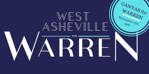 West Asheville Canvass for Warren