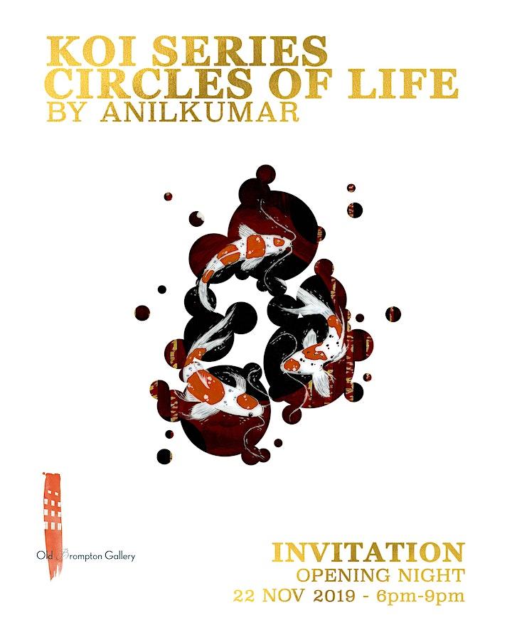 Circles of Life - Koi Series by AnilKumar image