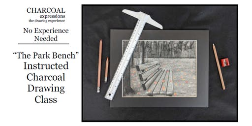 """Charcoal Drawing Event """"Park Bench"""" in Lodi"""