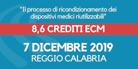 ECM -Il processo di ricondizionamento dei dispositivi medici riutilizzabili biglietti