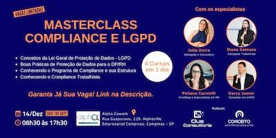 MASTERCLASS - Curso de Compliance e LGPD em Campinas - SP